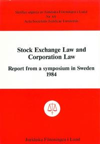 Stock Exchange Law and Corporation Law