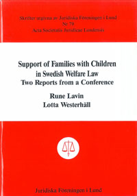 Support of Families with Children in Swedish Welfare Law